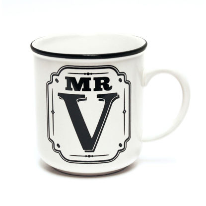 Picture of Alphabet Mug (Mr. V) Personalised Stoneware Mug Gift