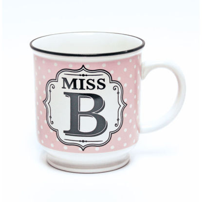 Picture of Alphabet Mug (Miss B) Personalised Stoneware Mug Gift