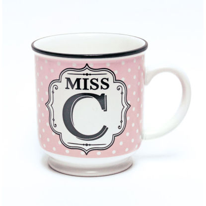 Picture of Alphabet Mug (Miss C) Personalised Stoneware Mug Gift