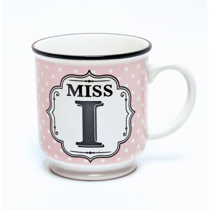 Picture of Alphabet Mug (Miss I) Personalised Stoneware Mug Gift