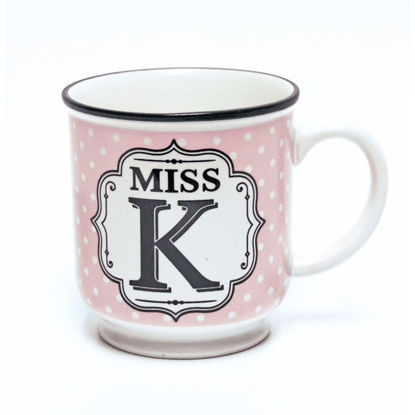 Picture of Alphabet Mug (Miss K) Personalised Stoneware Mug Gift