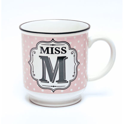 Picture of Alphabet Mug (Miss M) Personalised Stoneware Mug Gift