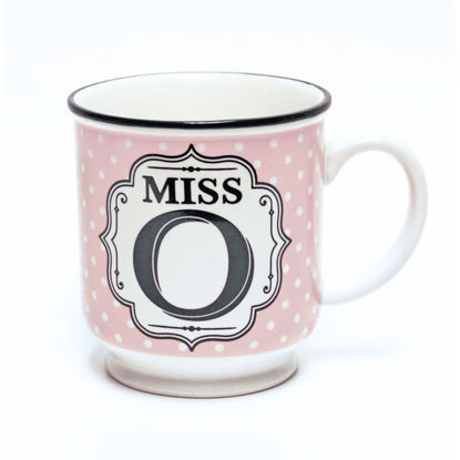 Picture of Alphabet Mug (Miss O) Personalised Stoneware Mug Gift