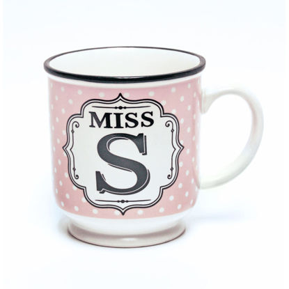 Picture of Alphabet Mug (Miss S) Personalised Stoneware Mug Gift