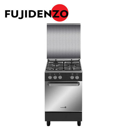 Picture of Fujidenzo 50 cm Cooking Range, 3 Gas Burner, Gas Oven(FGR5530VTMB)