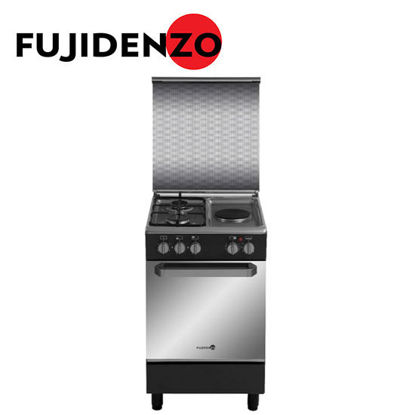 Picture of Fujidenzo 50 cm Cooking Range, 2 Gas + 1 Electric, Gas Oven(FGR5521VTMB)