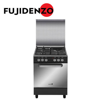 Picture of Fujidenzo 60 cm Cooking Range, 3 Gas + 1 Electric, Gas Oven, Rotisserie(FGR6631VTRMB)