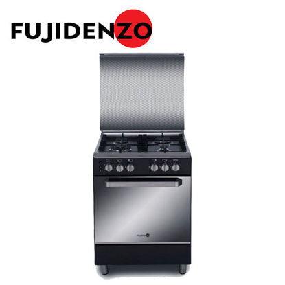 Picture of Fujidenzo 60 cm Cooking Range, 4 Gas Burner, Rotisserie, Cast Iron(FGR6640VTRCMB)
