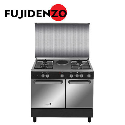 Picture of Fujidenzo 90 cm Range, 4 Gas + 1 Electric, Rotisserie, Gas tank compartment(FGR9641VCTRMB)