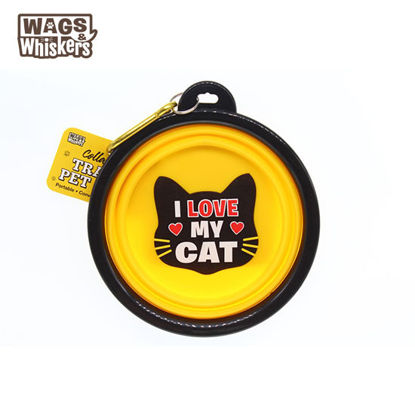 Picture of Wags & Whiskers - COLLAPSIBLE Travel BOWL - I Love My Cat
