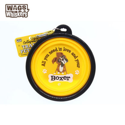 Picture of Wags & Whiskers COLLAPSIBLE Travel BOWL - Boxer