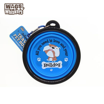 Picture of Wags & Whiskers COLLAPSIBLE Travel BOWL - Bulldog