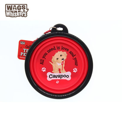 Picture of Wags & Whiskers COLLAPSIBLE Travel BOWL - Cavapoo