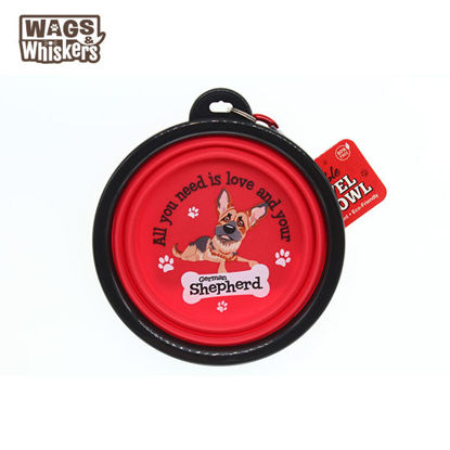 Picture of Wags & Whiskers COLLAPSIBLE Travel BOWL - German Shepherd