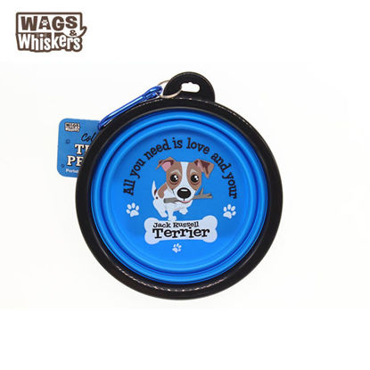 Picture of Wags & Whiskers COLLAPSIBLE Travel BOWL - Jack Russell Terrier