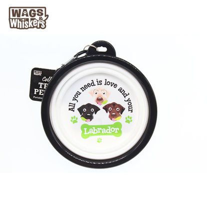 Picture of Wags & Whiskers COLLAPSIBLE Travel BOWL - Labrador
