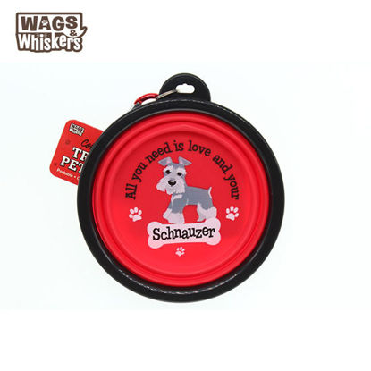 Picture of Wags & Whiskers COLLAPSIBLE Travel BOWL - Schnauzer