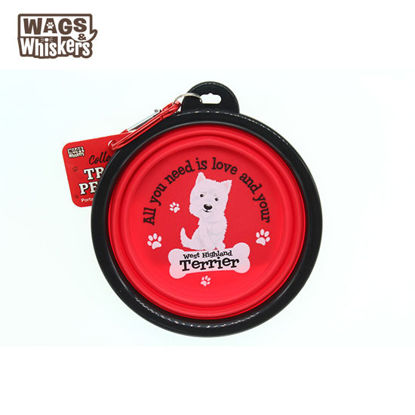 Picture of Wags & Whiskers COLLAPSIBLE Travel BOWL - West Highland Terrier