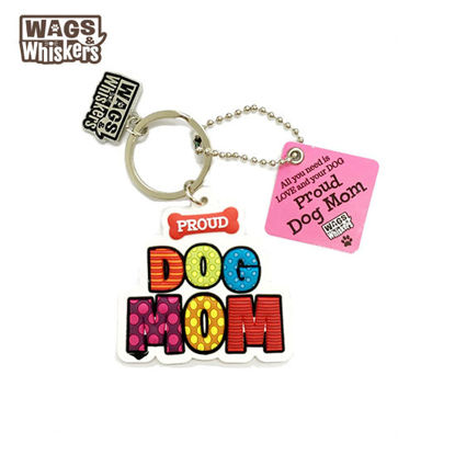 Picture of Wags & Whiskers KEYCHAIN Pet - Proud Dog Mom