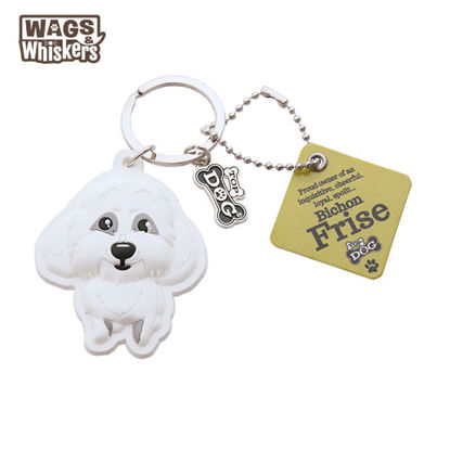 Picture of Wags & Whiskers KEYCHAIN Pet - Bichon Frise
