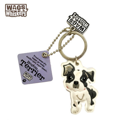 Picture of Wags & Whiskers KEYCHAIN Pet - Boston Terrier