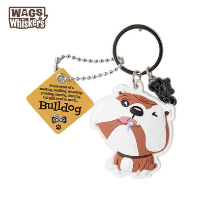 Picture of Wags & Whiskers KEYCHAIN Pet - Bulldog
