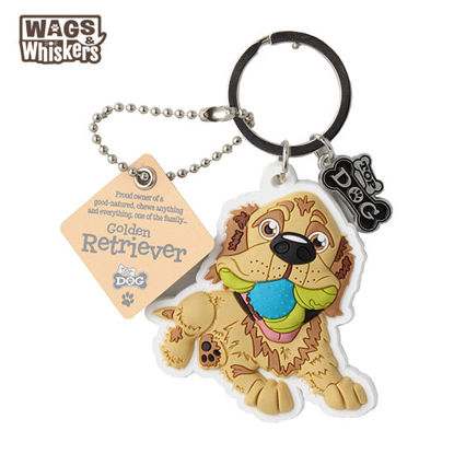 Picture of Wags & Whiskers KEYCHAIN Pet - Golden Retriever