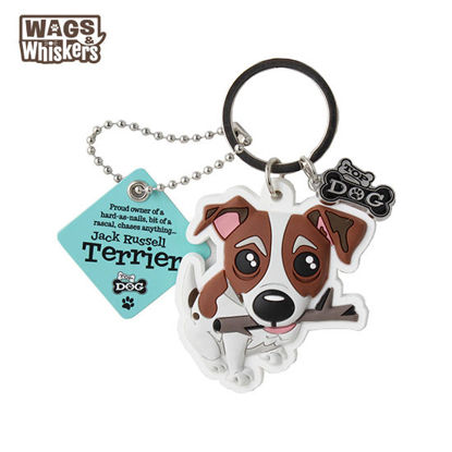Picture of Wags & Whiskers KEYCHAIN Pet - Jack Russell Terrier