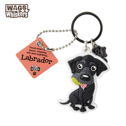 Picture of Wags & Whiskers KEYCHAIN Pet - Labrador Black