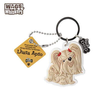 Picture of Wags & Whiskers KEYCHAIN Pet - Lhasa Apso