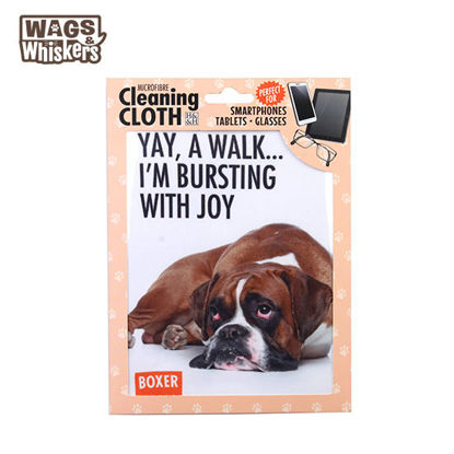 Picture of Wags & Whiskers Microfibre Cleaning Cloth (Boxer) Reusable Washable Cloth