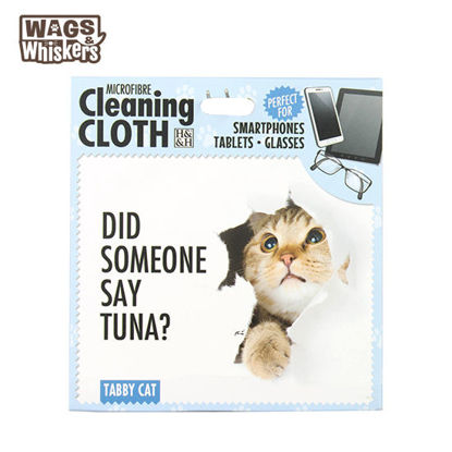 Picture of Wags & Whiskers Microfibre Cleaning Cloth - Tabby Cat
