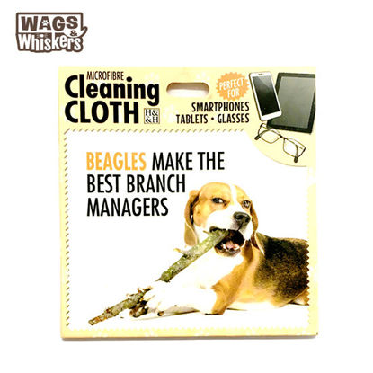 Picture of Wags & Whiskers Microfibre Cleaning Cloth (Beagle) Reusable Washable Cloth