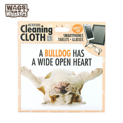 Picture of Wags & Whiskers Microfibre Cleaning Cloth (Bulldog) Reusable Washable Cloth