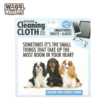 Picture of Wags & Whiskers Microfibre Cleaning Cloth (CKC Spaniel) Reusable Washable Cloth