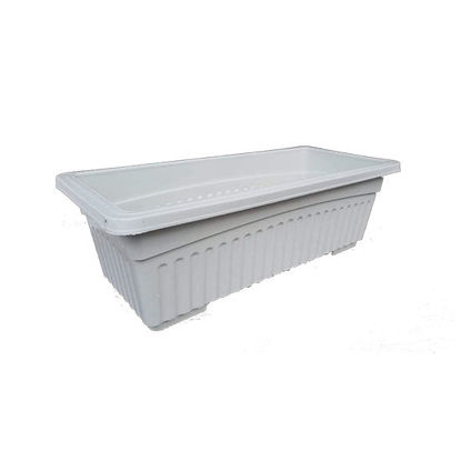 Picture of Plastic Rectangular Pots for Indoor and Outdoor Garden Use (35 cm x 16 cm x 12 cm )