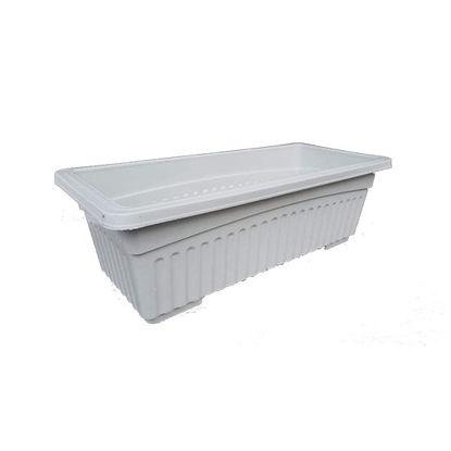 Picture of Plastic Rectangular Pots for Indoor and Outdoor Garden Use (35 cm x 16 cm x 12 cm )