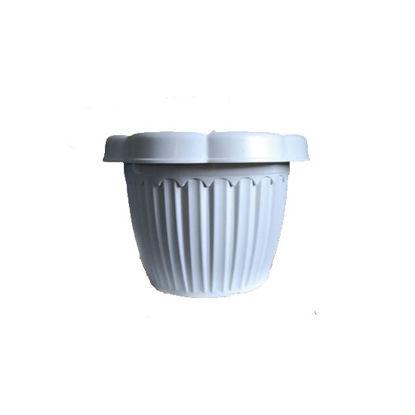 Picture of Wavy Plastic Flower/Plant Pots Round pots - SMALL (20 cm dia x 16 cm H)