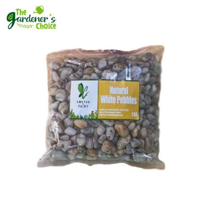 Picture of The Gardener's Choice Natural White Pebbles 1kg