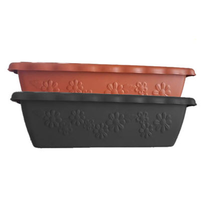 Picture of Plastic Decorative Rectangular Flower/Plant Pots - SMALL (44 cm L x 20 cm W x 17.5 cm H)