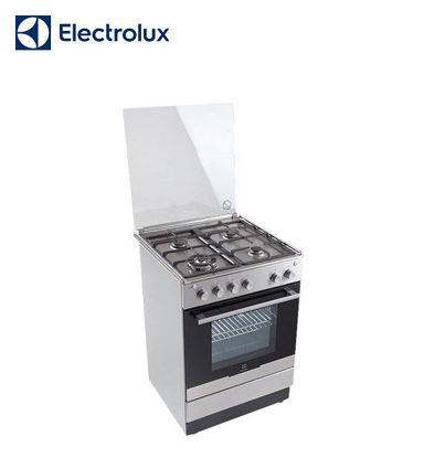 Picture of Electrolux 50 cm Free Standing Cooker, 4 Gas Burners, 51L Gas Oven EKG51105OX