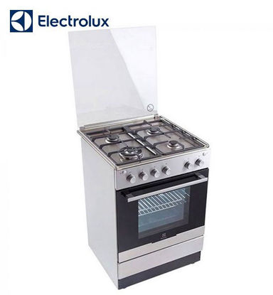 Picture of Electrolux 60 cm Free Standing Cooker, 4 Gas Burners, 51L Gas Oven EKG61107OX