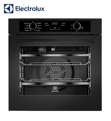 Picture of Electrolux 72cm, Built-in Oven, Black Patterned Glass EVE614BCE