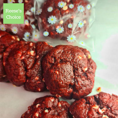 Picture of Reese's Choice NY Red Velvet Moist Cookies (per 100 grams)
