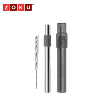 Picture of ZOKU Jumbo Pocket Straw - Charcoal