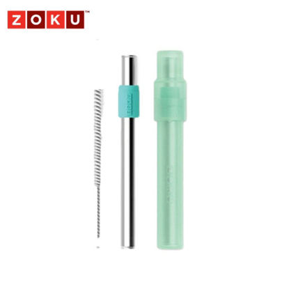 Picture of ZOKU Jumbo Pocket Straw - Teal