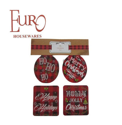 Picture of Euro G91756Cst 8Pk Holiday Coaster A