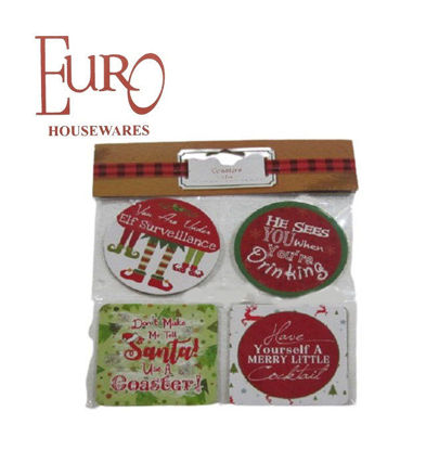 Picture of Euro G91756Cst 8Pk Holiday Coaster B