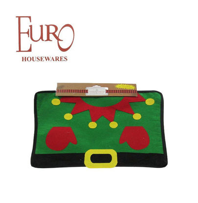 "Picture of Euro G917871 Cutie Felt Xmas Placemat - Elf 13"" X 17.5"""