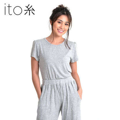 Picture of Bamboo Ladies Shirt - Light Grey